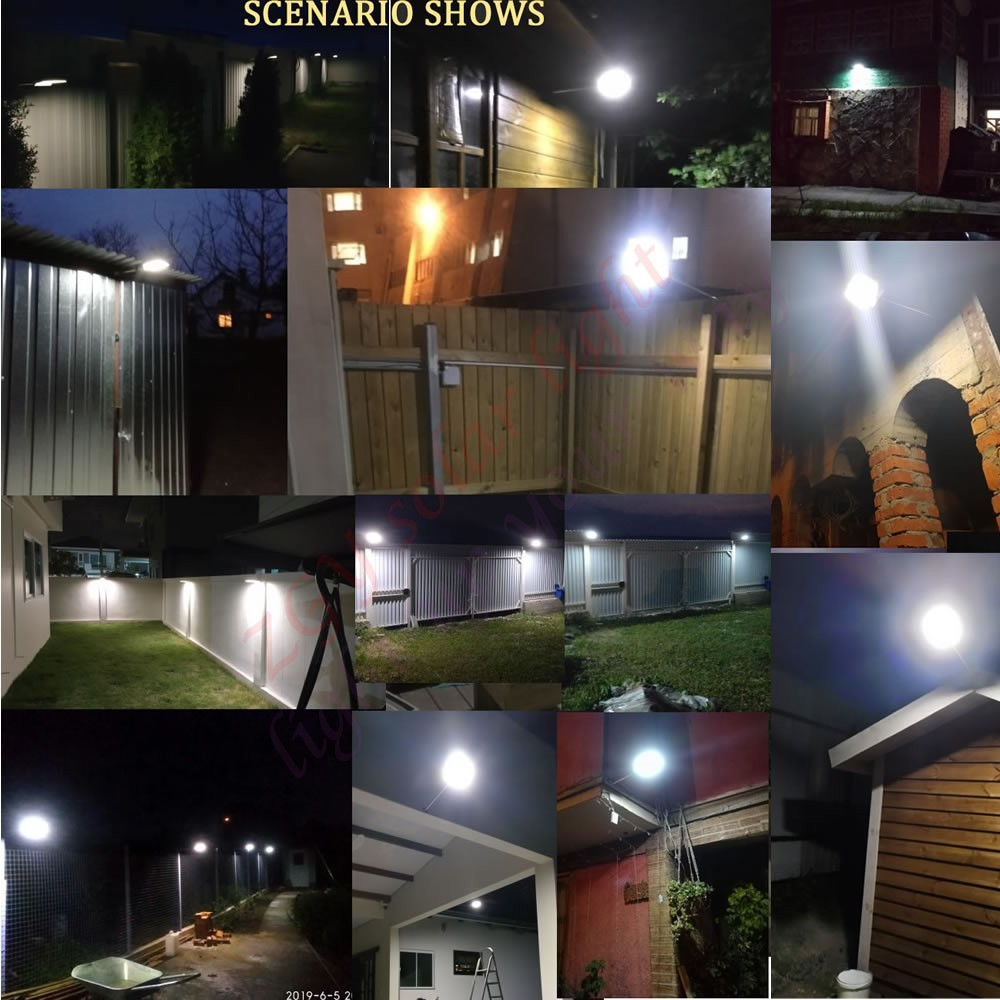 48 36 LED Solar Light Three Modes Black White Waterproof Outdoor Garden Wall Fence Lamp street spot flood metal Mounting Pole in Solar Lamps from Lights Lighting