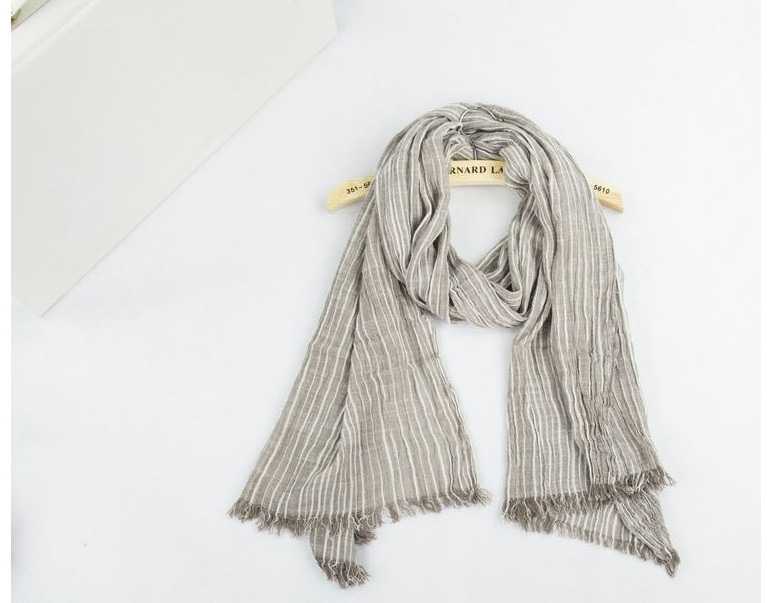 Vintage Stripe Frayed Scarf   Shawls and Wraps   Up to 60% Off