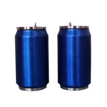 500ML Stainless Steel Vacuum Flask Creative Coke Cup Teacup Reusable Mug Lid Water Bottle Beverage Kettle Straw