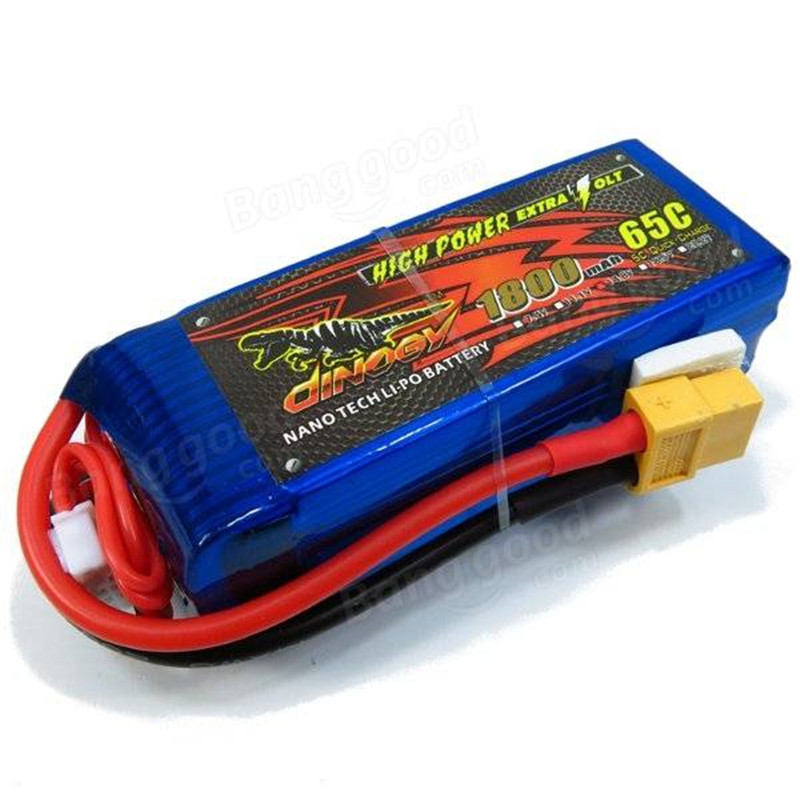 ФОТО In Stock XT60 Plug 1800mAh/1500mAh/1300mAh/1000mAh 14.8V 4S 65C LiPo Battery For RC Airplane Multicopters Giant Power Dinogy