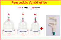 1 6 Original Chinese Traditional Vacuum Cupping Therapy Cups Massage Musilin Hijama Cups Single Cups Sell