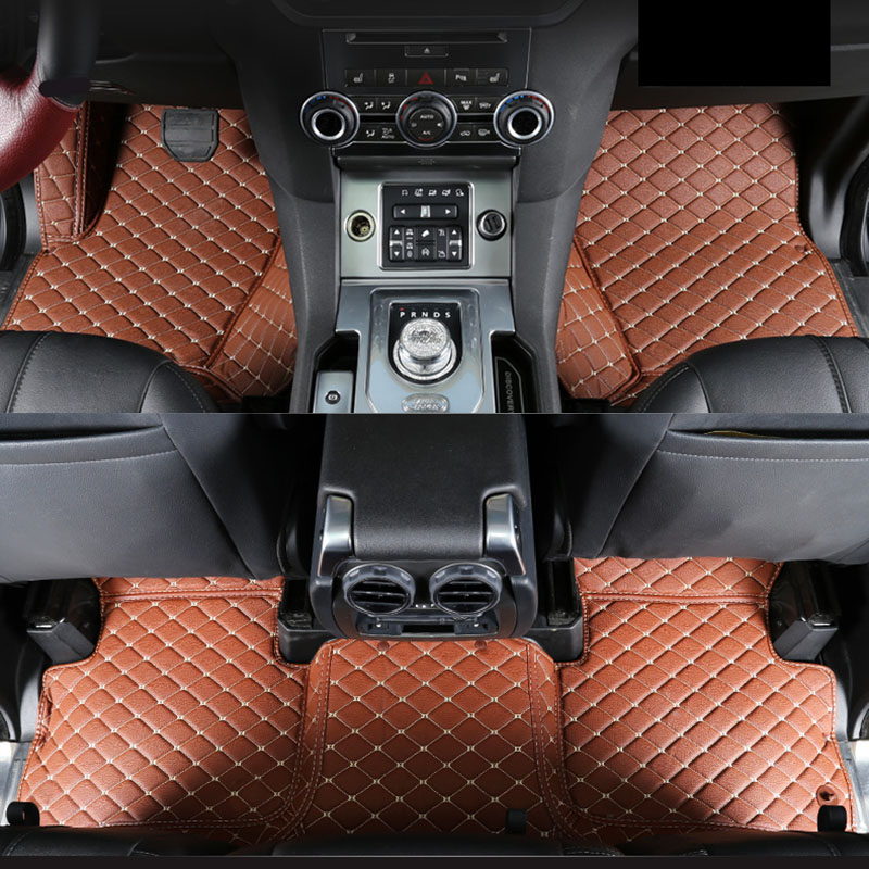 lsrtw2017 leather car floor mat for land rover range rover L405 L322 2018 2019 2017 2016 2015 2014 2013 rug carpet accessories in Floor Mats from Automobiles Motorcycles