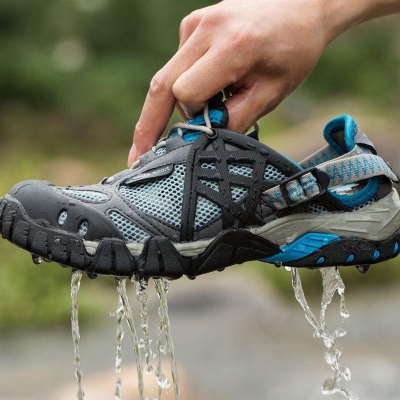 Men Outdoor Sneakers Breathable Hiking Shoes Big Size Men Women Outdoor Hiking Sandals Men Trekking Trail