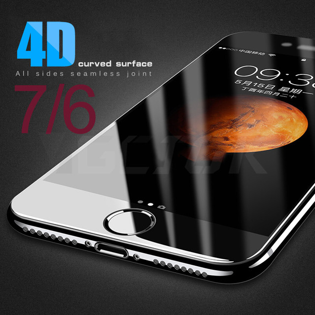 4D Curved Edge Full Cover Tempered Glass On The For iPhone 7 6S 8 6 Plus Screen Protector Glass For Apple iPhone 6 7 8 Film Case