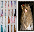 1 pcs 15cm  25cm BJD WIG High-temperature Handmade  Synthetic Hair Piece For 1/3 1/4 1/6 BJD SD Dollfie