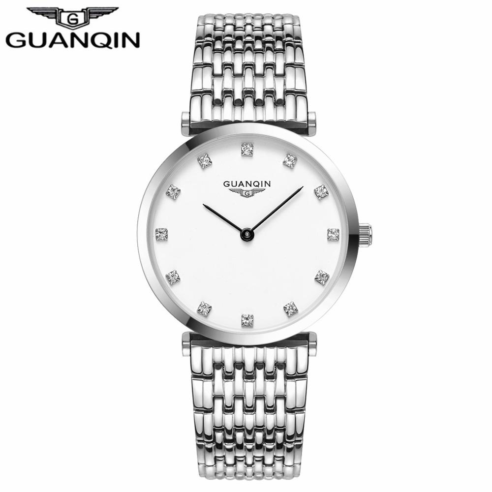 GUANQIN Women Watches 2017 Luxury Top Brand Watch Women Casual Fashion Gold Silver Steel Quartz Girl Watches relogio feminino (1)