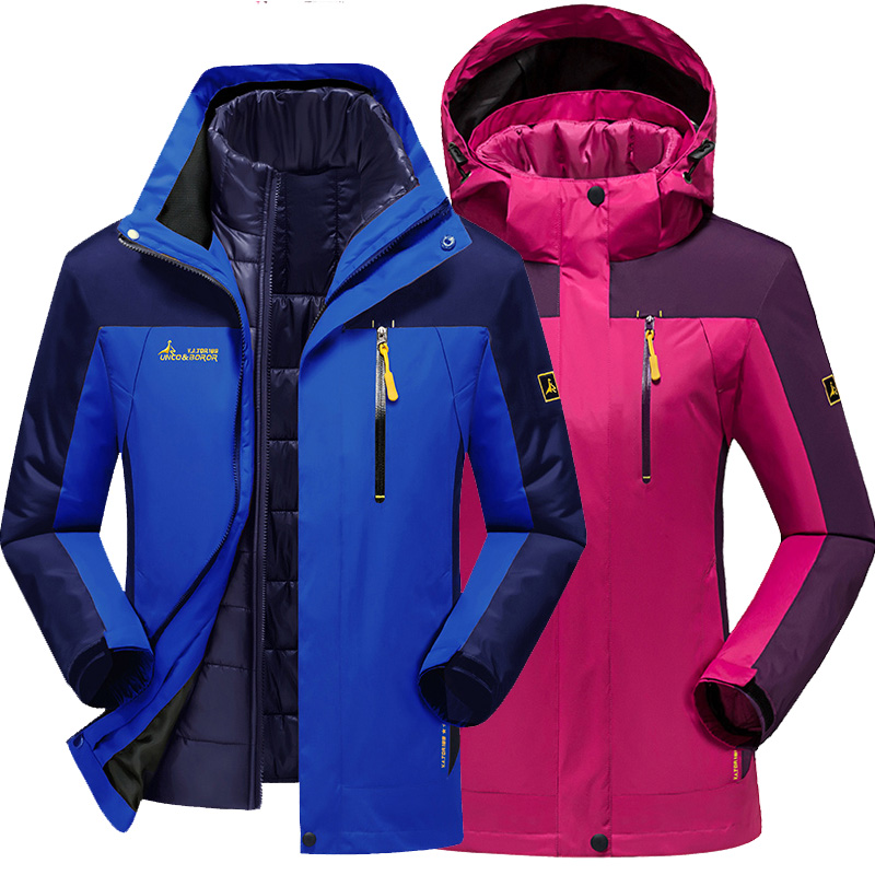 Autumn Winter Men women jacket coat outdoor Camping Hiking windbreaker Men women Windproof warm parka Hooded jackets outerwear купить