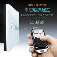 Free Shipping 3 Gang 2 Way Remote Control White Color Double Way Wall Switch Glass Touch