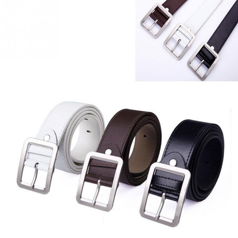 Adult Male New Buckle Square Shape Stra Imitation Leather Upscale nice and soft PU   Belt   For Men #5