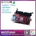 Venda quente cartão de controle de led Longgreat TF-E3U 256*1024 pixel USB + cartão de controlador de porta SERIAL para p10 levou rgb tela led billboard