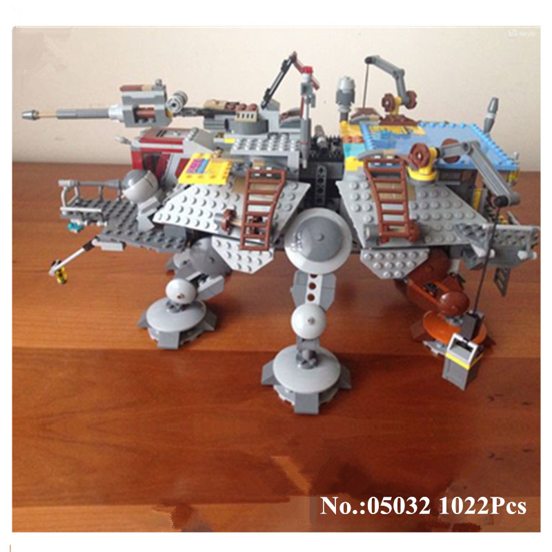 H&HXY IN STOCK 05032 1022Pcs 2016 Star Series War Captain Rex's AT-TE Building Blocks Brick lepin Toys Gifts Compatible 75157 in stock h