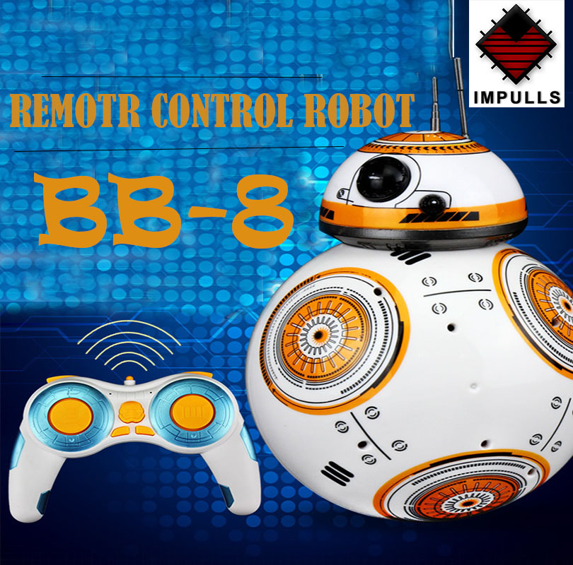 BB 8 Ball Star Wars RC Robot Action Figure BB 8 Droid Robot 2.4 G Remote Control Intelligent Robot BB 8 Model Kid Toy Gift FSWB