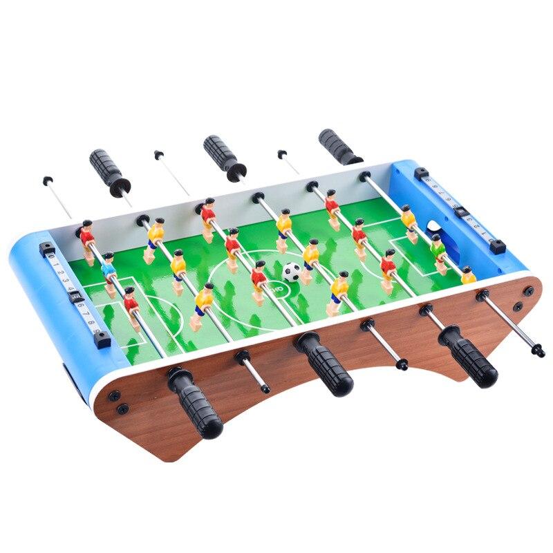 Table de baby-foot de Table classique en bois-Mini jeu de baby-foot/Football Portable