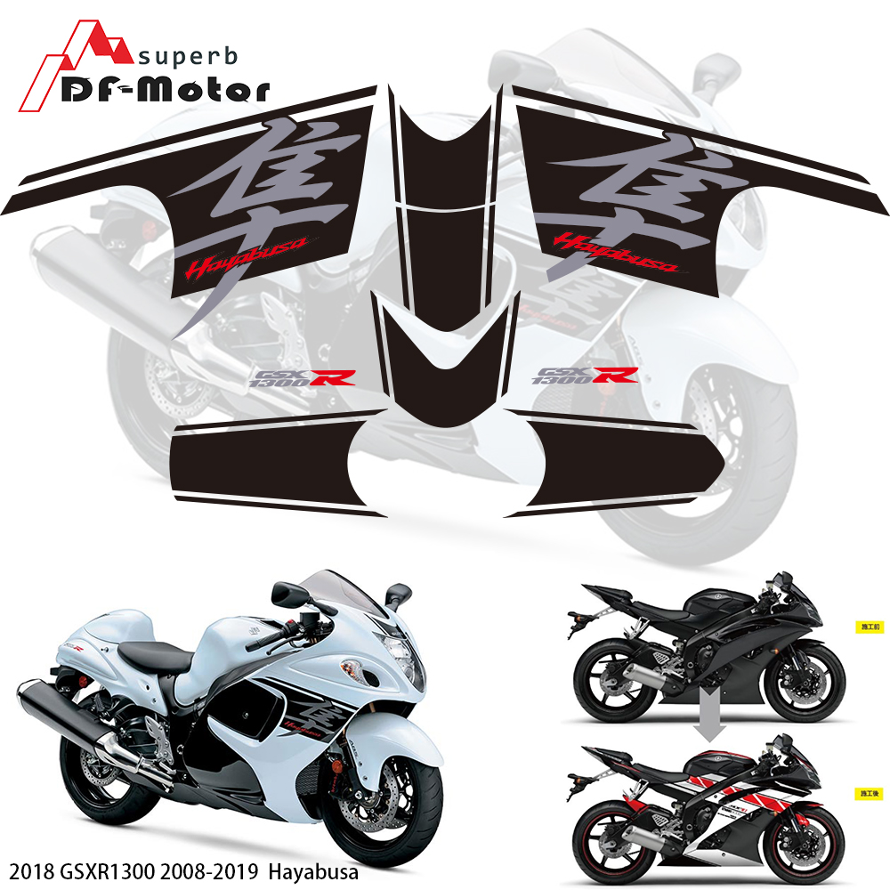 3M Sticker Fairing Stickers For Suzuki GSXR1300 HAYABUSA 2008-2018 2017 2018 2019 Motorbike Racing Fairing Sticker Decal