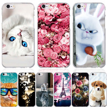 ФОТО for cases iphone 6 6s 7 phone case 3d pattern soft silicone cover for iphone 5 5s se case for apple iphone 5 5s se 6 6s 7 8 case