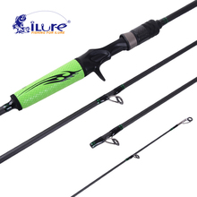 2017 New iLure Brands Bait Fishing Rod 1.98 Mt 4 Sections M Power Carbon Spinning / Casting Fishing Bait Travel rod 8-20LB 7-25g