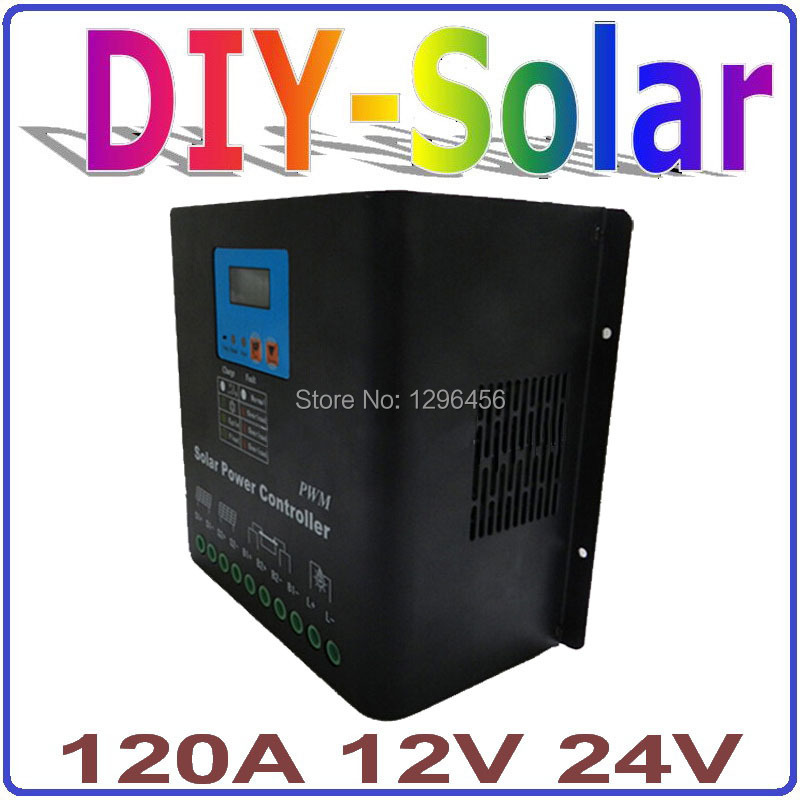 120A PV Solar Panel Charge Controller 12V 24V Battery Charge Regulator 2018 New Electronic LCD Display SYSTEM