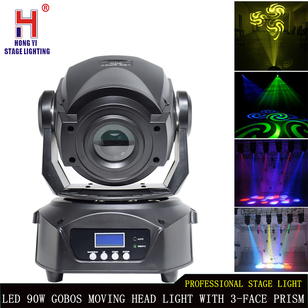 LED 90W Spot Moving Head Light 3 face prism mixing color effect DMX Stage Light for club party djLED 90W Spot Moving Head Light 3 face prism mixing color effect DMX Stage Light for club party dj