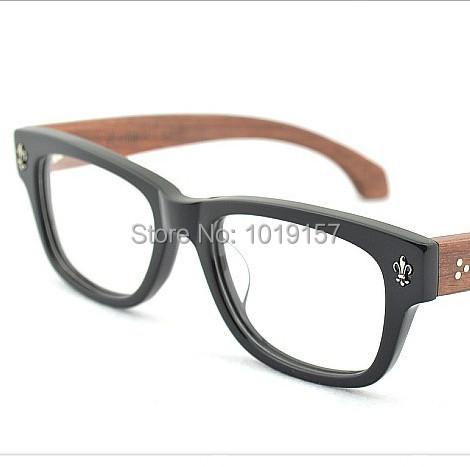 Homens e mulheres De Madeira Frame Ótico de Madeira Grandes óculos Quadro de Miopia Óculos