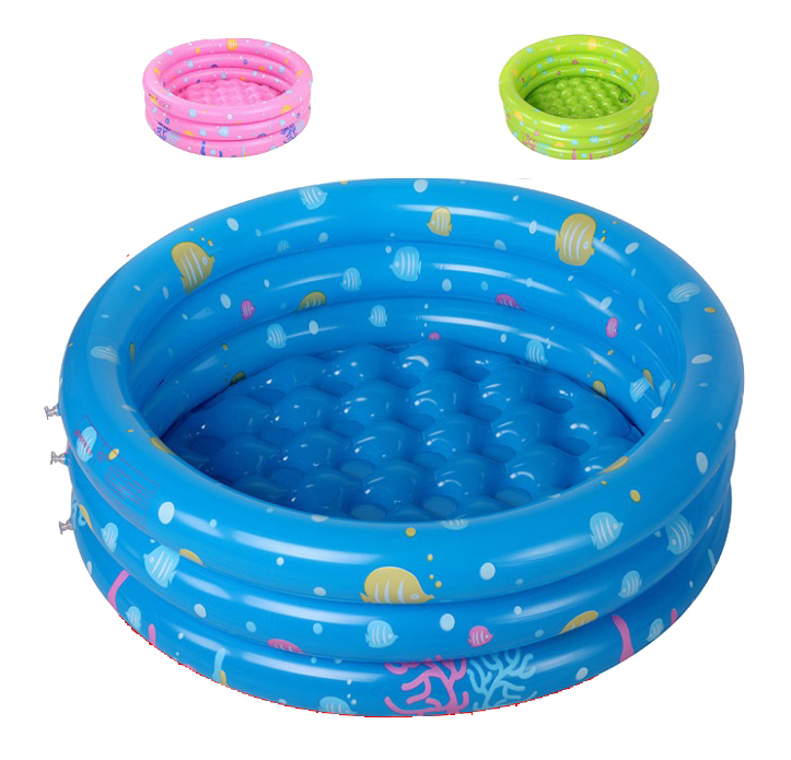 Free shipping.80x28cm 3 Rings Ocean World Inflatable Baby pool baby swimming pool,round shape kids pool(Blue/Green/Pink color)