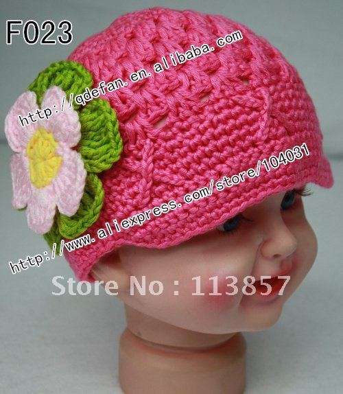 Free shipping (20 lot )100% cotton Crochet Hat Pattern girls Visor Beanie  23e3a9b7ee2