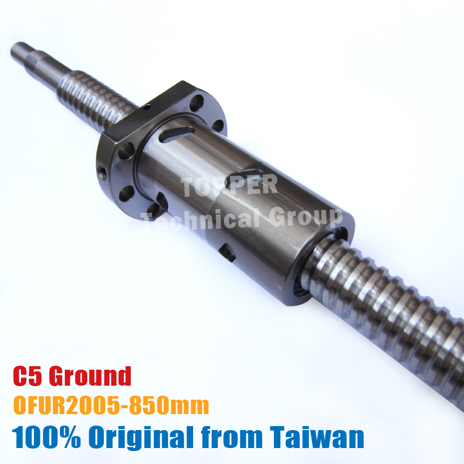 TBI DFU2005 C5 850mm customized grinding ballscrew with new OFU2005 ball nut end machined for high