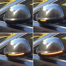 Dynamic Blinker LED Turn Signal Side Mirror Lights indicator For Audi Q5 SQ5 8R Q7 4L 2010 2011 2012 2013 2016
