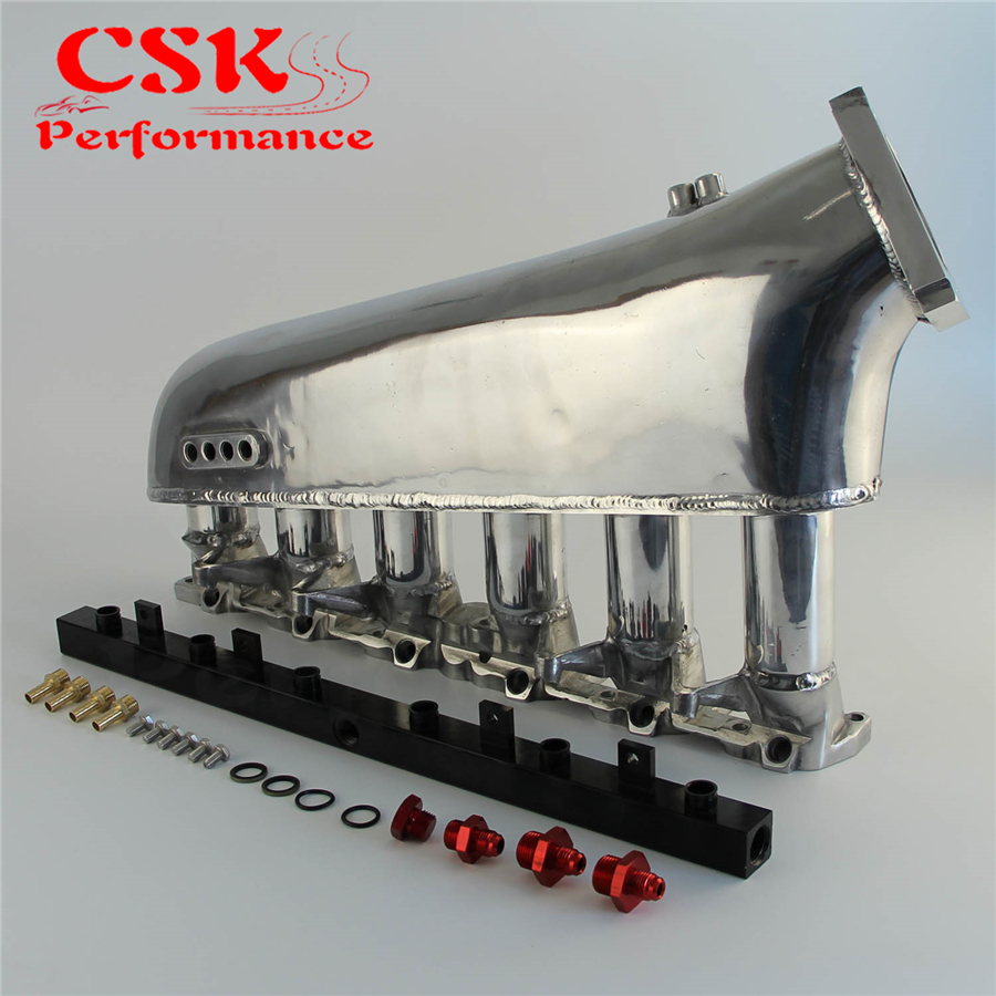 Intake Manifold Plenum + Fuel Rail Fits For <font><b>BMW</b></font> E30 <font><b>M20</b></font> 320i / 325i 1987-1991 Blue image