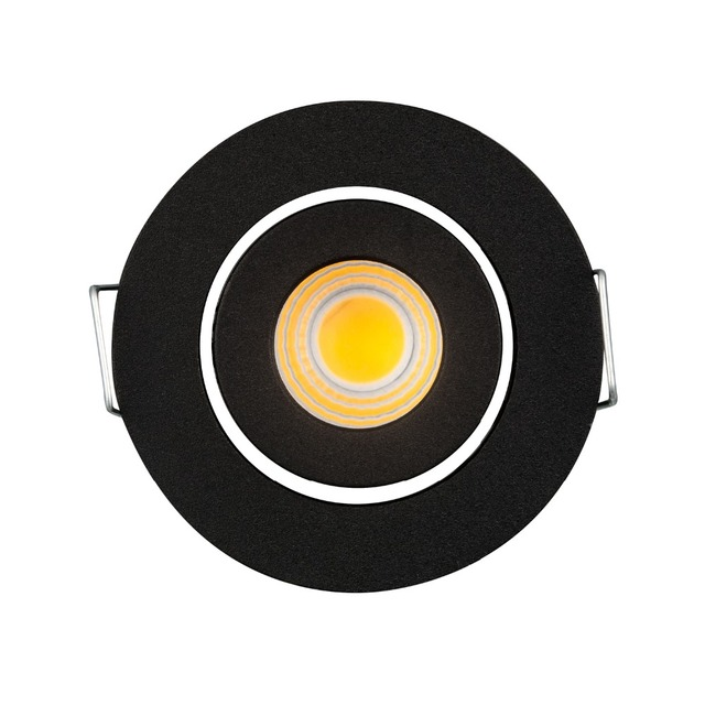 3W LED Mini COB Downlight LED Dimmable Recessed Ceiling Spot Lights Cut Hole 42mm Black for Bathroom/Cabinet/Kitchen Light
