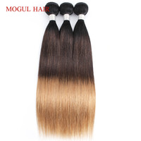 Mogul Hair Indian Straight Hair Weave Bundles Color 1B 4 27 Ombre Brown Honey Blonde Remy Human Hair Extension 12 24 Inch