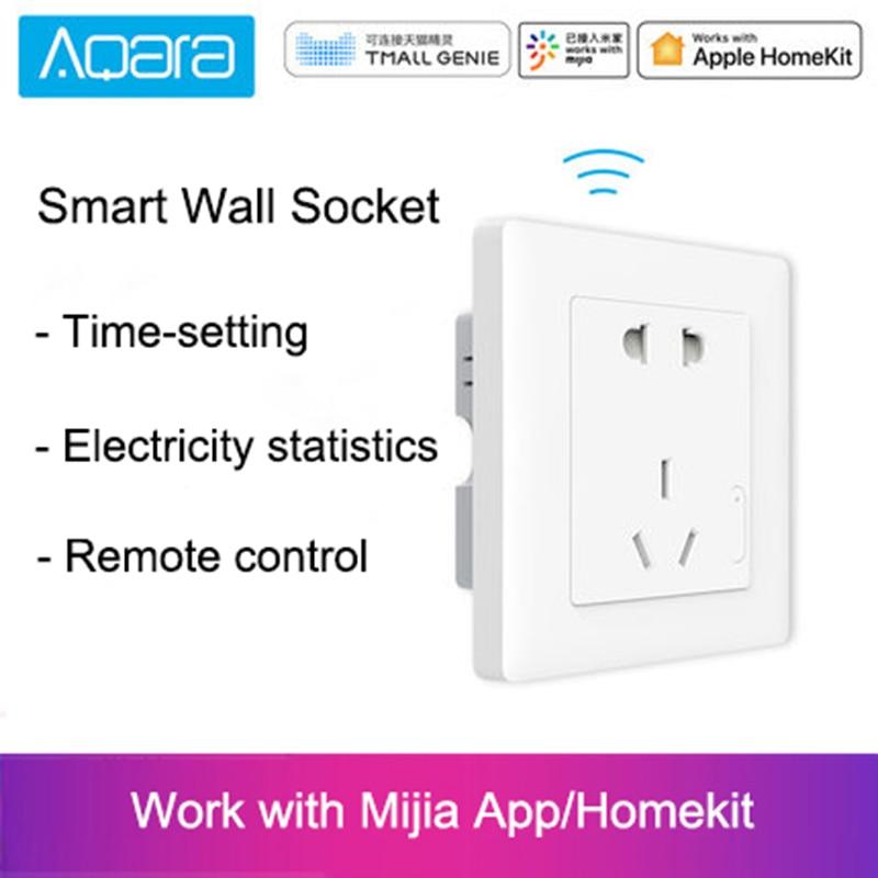 Original Xiaomi Smart home Aqara Luz Inteligente Controle Remoto Sem Fio Interruptor Da Tomada de Parede Plug Via Smartphone APP ZiGBee 10A/ 2500W