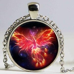 Image 1 - Starry Sky Beast Phoenix Constellation Twelve Gold Color Saint Seiya Glass Pendant Necklace Childrens Classic Comic Memory Gift