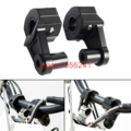 "7/8"" 22mm HandleBar Handle Fat Bar Mount Clamps Riser Dirt Bike Motocross For Honda Kawasaki Yamaha Suzuki Ducati Harley Black"