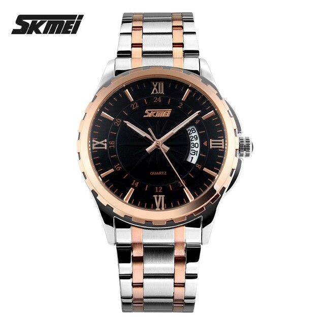 Relojes Hombres Lujo de la Marca SKMEI Digital de cuarzo Relojes de pulsera de acero completo Impermeable de Los Hombres reloj Casual relogio masculino Reloj Hombre