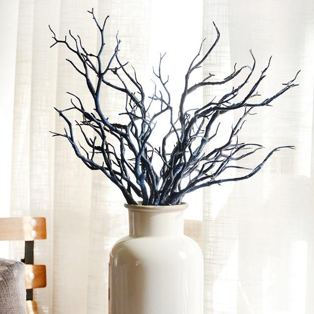 Albaricoque Oscuridad Bruja Arboles Bifurcado Flores Artificiales - Ramas-de-arboles-para-decoracion