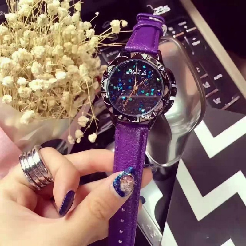 Lady Wrist Watch Quartz Woman Hours Best Fashion Dress Korea Bracelet Brand Leather Multicolored Crystal relojes