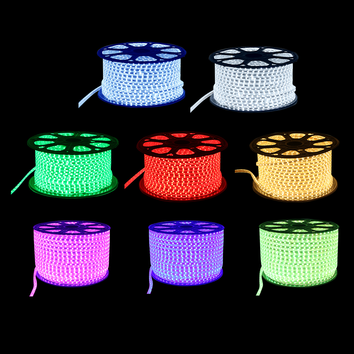 20M LED Strip Light 220V 60 LEDs/ meter IP67 Waterproof Ultra Bright Flexible 5050 SMD LED Outdoor Garden Home Strip Rope Light