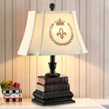 American creative study lamp table lamp bedroom bedside lamp warm retro fashion living room European-style decorat