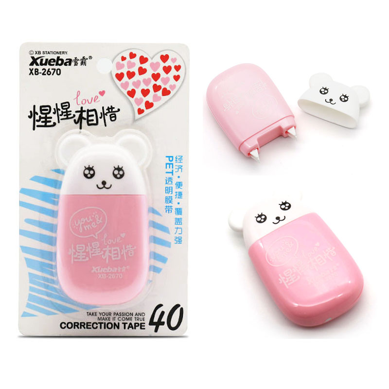 10m*5mm Cute Bear Correction Tape Double Head Stationery Office School Supplies Kid Studnet Stationery Correction Tape