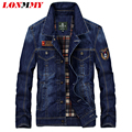 LONMMY M-4XL Denim jacket men Cotton Patch 2016 Jeans jacket jaquetas man military coat Cowboy mens jackets and coats