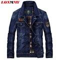 LONMMY M-4XL chaqueta de Mezclilla hombres Algodón Parche 2016 Jeans chaqueta jaquetas militar hombre de Vaquero de los hombres para hombre de las chaquetas y abrigos
