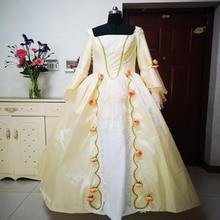 купить New champagne Vintage costumes 18th Duchess Retro medieval Renaissance Reenactment Theatre Civil war Victorian dress D-290 дешево