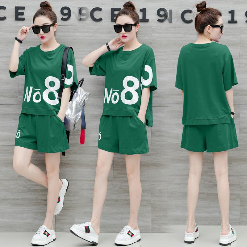 YICIYA green tracksuits for women top and mini pant suits 2 piece sets 2019 outfits tracksuit sportswear big co ord set summer in Women 39 s Sets from Women 39 s Clothing