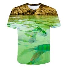 New product Men Leisure 3D Printing T Shirt Funny Fish Pattern Printed Men's And Women's T Shirt Hip Hop Round Collar T-shirt цена