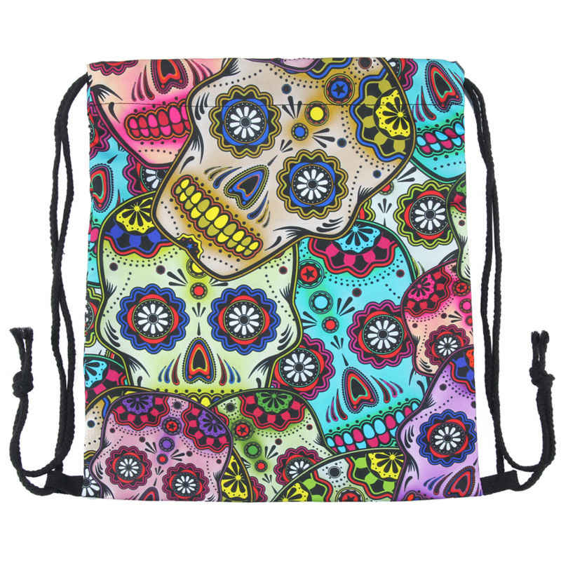 ... Jomtokoy 2018 New skull Drawstring Bags 3D Printed Drawstring Backpack  27044 ...