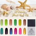 1 Bottle 10ml Born Pretty Candy Colors Shell Nail UV Gel Polish Soak Off UV Varnish 12 Colors Available