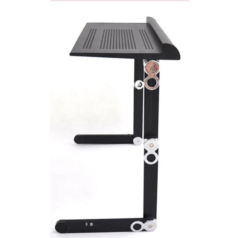 portable and foldable aluminum laptop desk table mate pc holder stand with fan and moues pad full black color aliexpresscom buy foldable office table desk