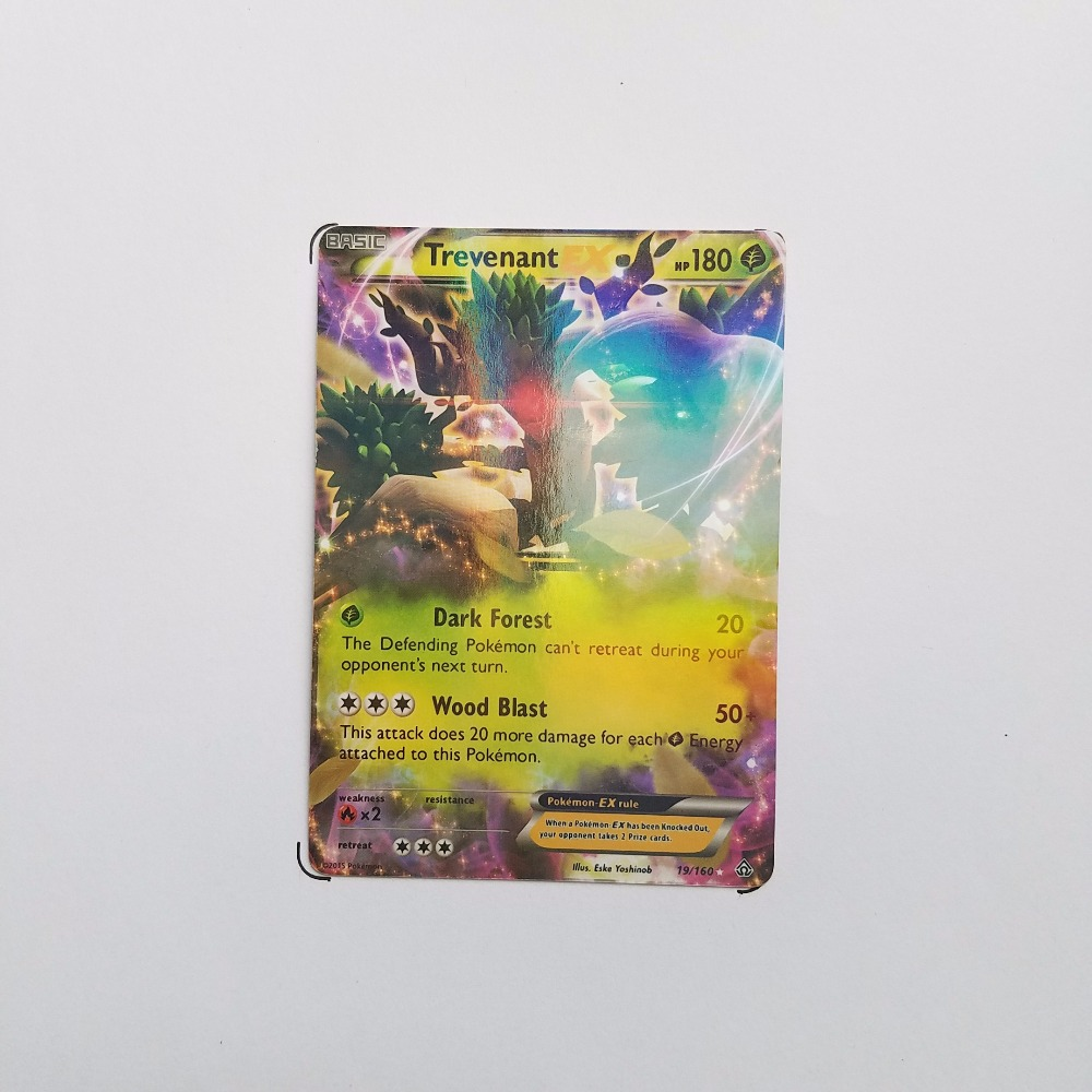 Pokemon Card Single Sale EX Flash E-20001 Trevenant Grass Card Play Anime Hot Toys Cards Game Trading Collection Children Gift