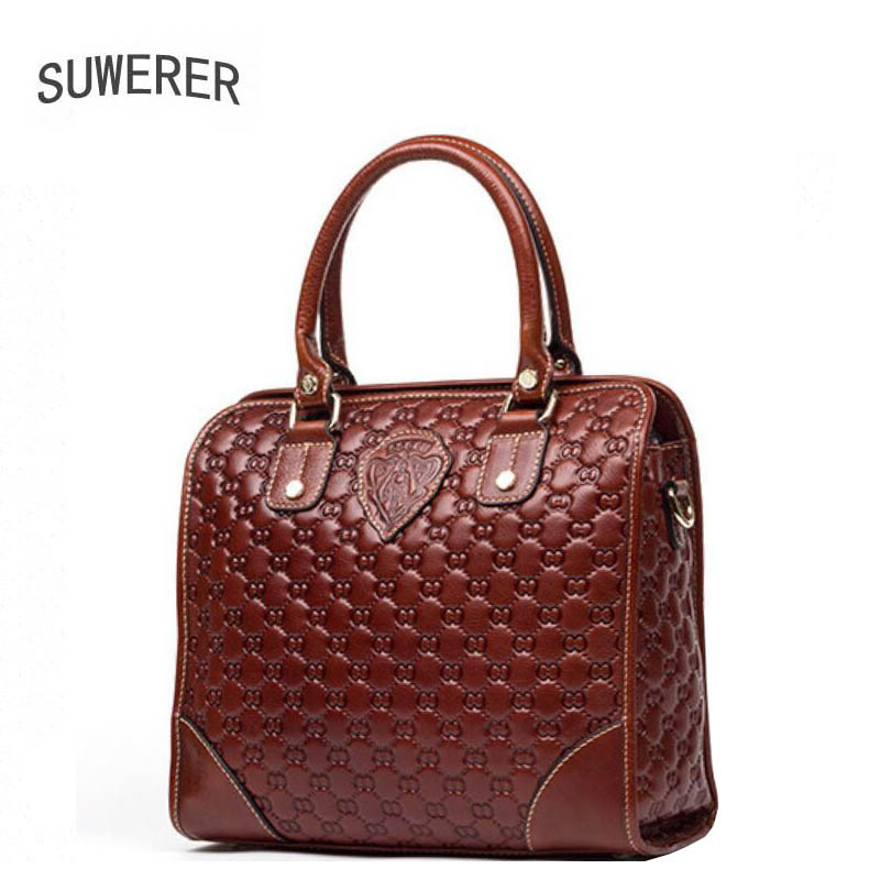 SUWERER 2018 fashion lenuine leather women bags for women luxury handbags women bags designer bags handbags women famous brands
