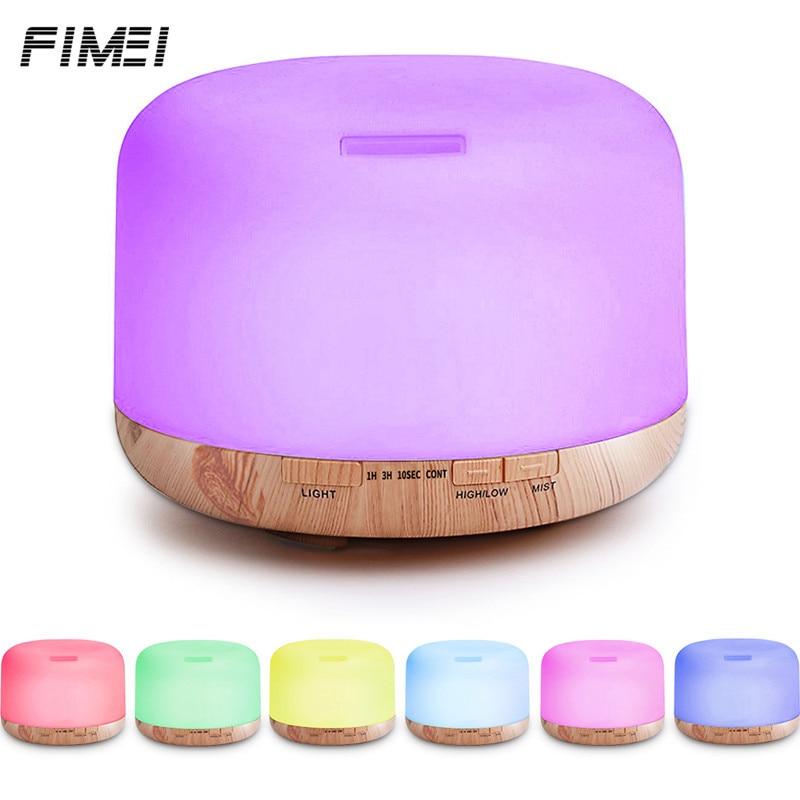 500ML Ultrasonic Humidifier Essential Oil Diffuser Remote Control Automatic Aroma Diffuser Cool Mist Aromatherapy humidificador цена и фото